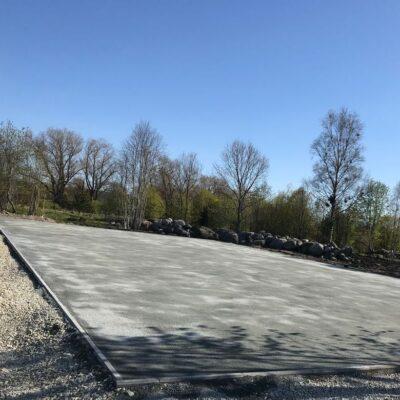 Tenniseväljaku aluse ehitus