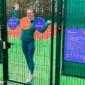 Kunstmuru kattega kogukondlik tenniseväljak